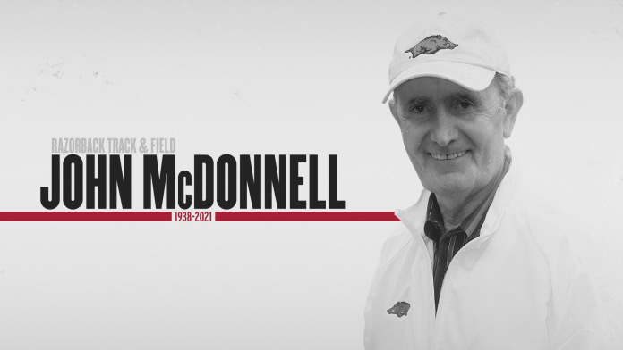 Legendary track coach McDonnell passes away at 82