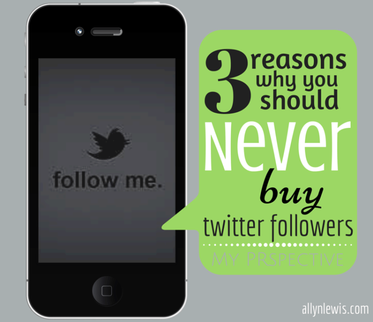 Three Reasons Why You Should Never Buy Twitter Followers