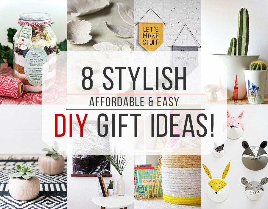 'Tis officially the season to share your creativity, your time, and handiwork with these great DIY gift ideas!