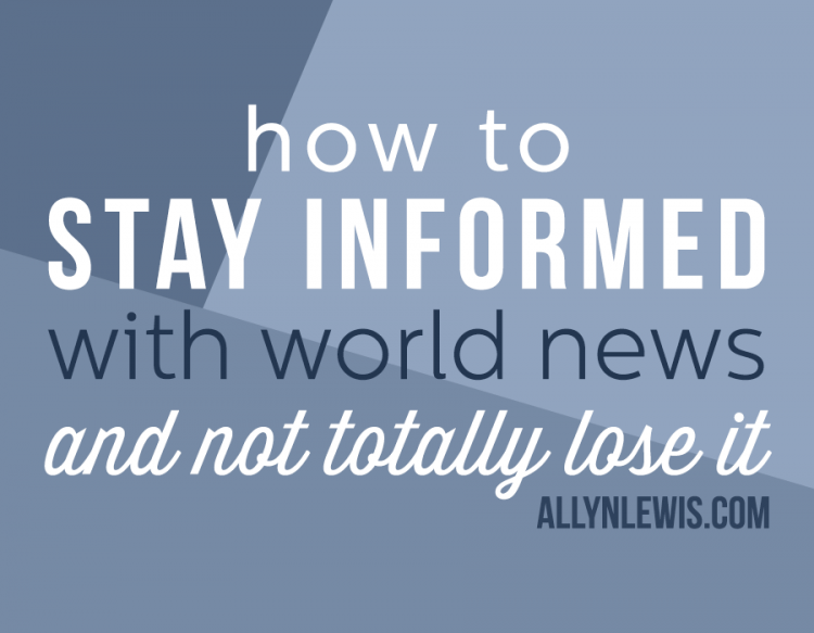 How to Stay Informed Without Totally Losing It