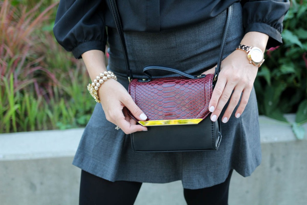 "A ""Clueless"" inspired New York Fashion Week outfit featuring Carolee Jewelry, Escape Watches, and 88 Handbags."