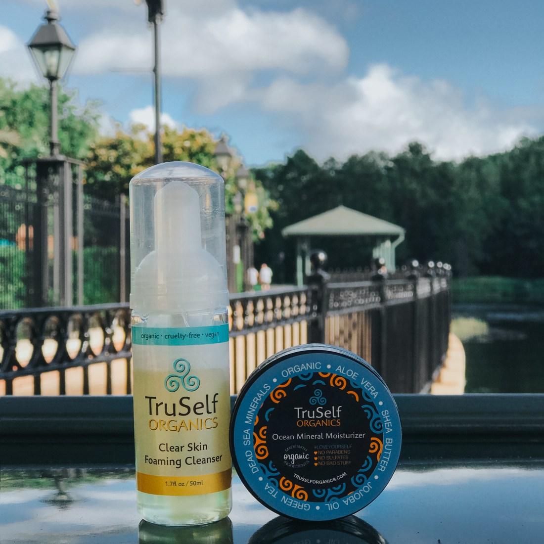 TruSelf Organics Ocean Mineral Moisturizer + Clear Skin Foaming Cleanser, Organic Skincare, leaping bunny certified, cruelty-free skincare, cruelty-free brands | @truselforganics
