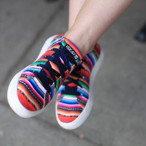 Step up your shoe game with these colorful ISKAY handmade sneakers