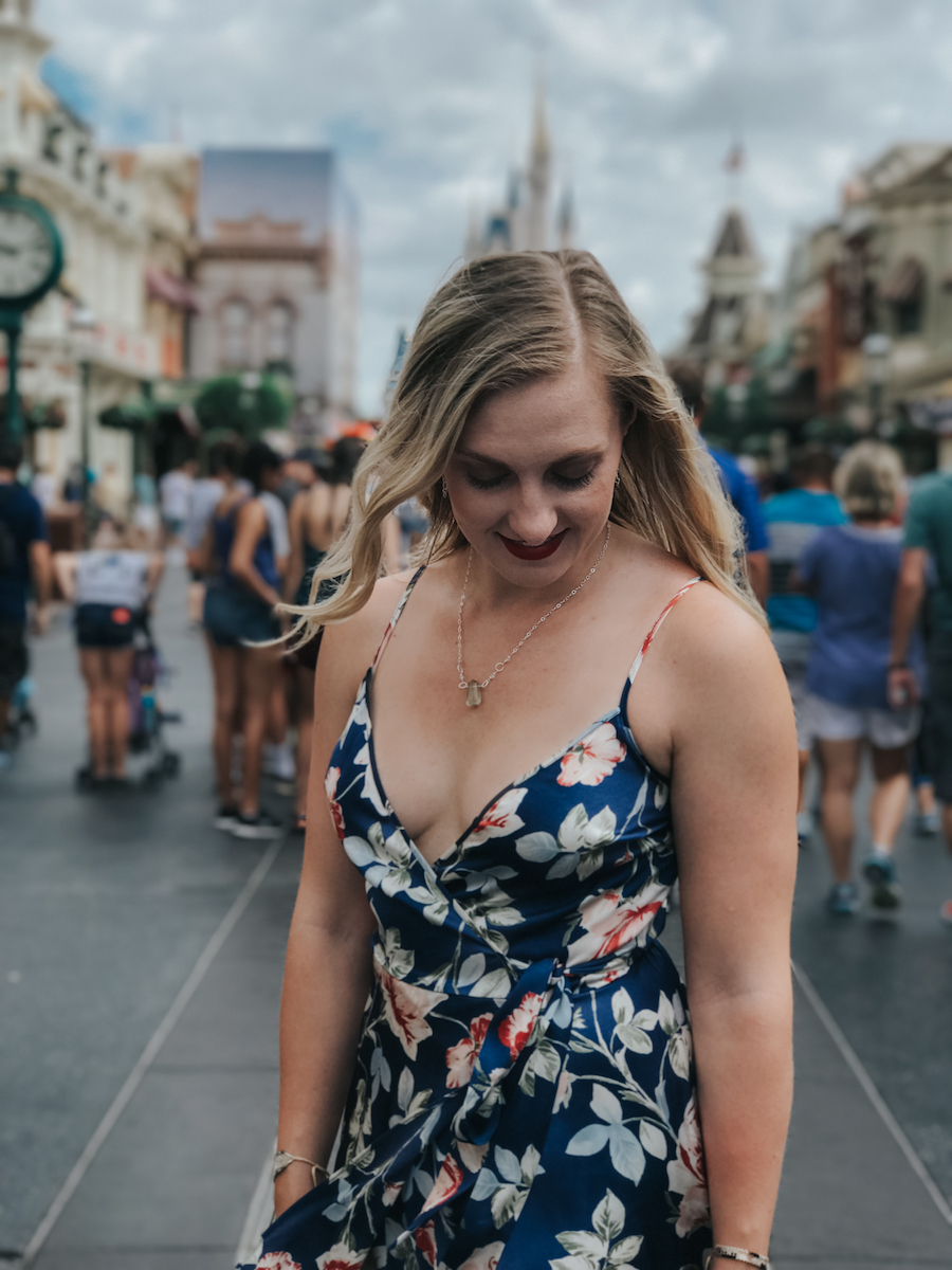 The floral maxi dress I wore to Magic Kingdom on our Disney Vacation