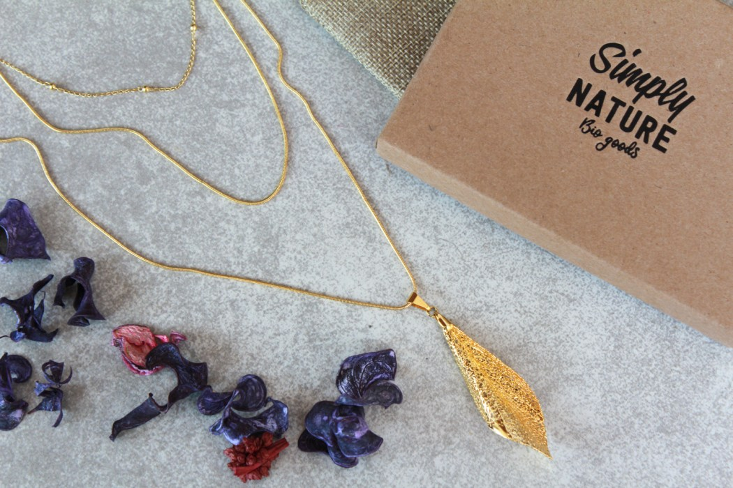 Glamorous, eco-friendly layered necklace from sustainable jewelry brand @simplynaturebiogoods