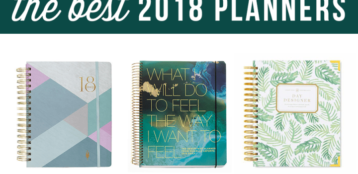 Top 2018 Planner Recommendations