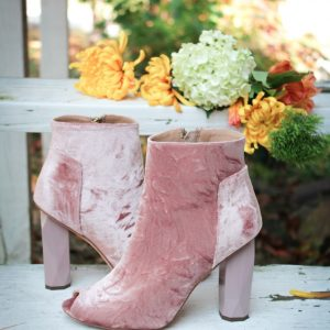 Treat yourself to velvet boots from Guava Shoes this month