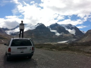 Overlooking The Athabasca Glacier
