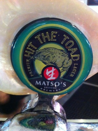'Hit The Toad' brew at Matso's