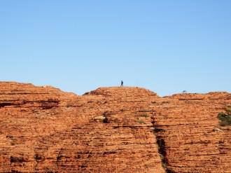 Other walkers across Kings Canyon