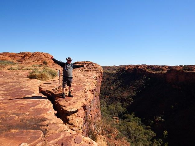 Craig living on the edge, Kings Canyon