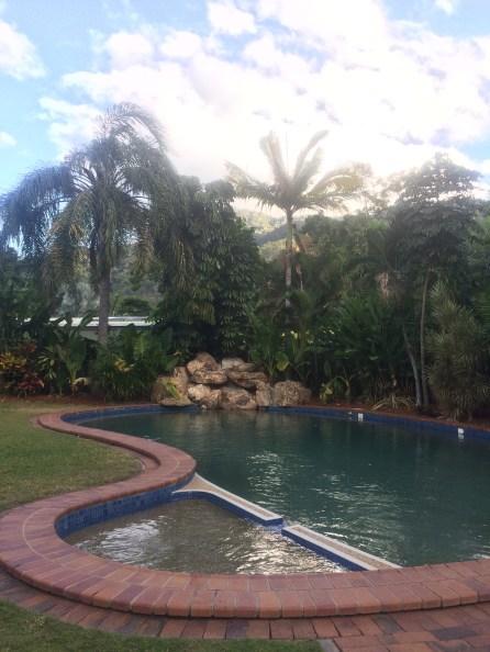 Swimming pool at our Cairns caravan park