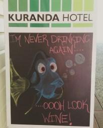 Kuranda Hotel sandwhichboard