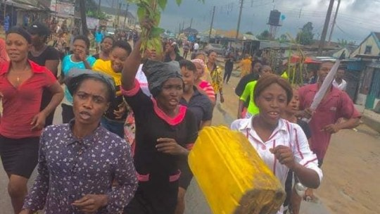 protest in Oyigbo LGA