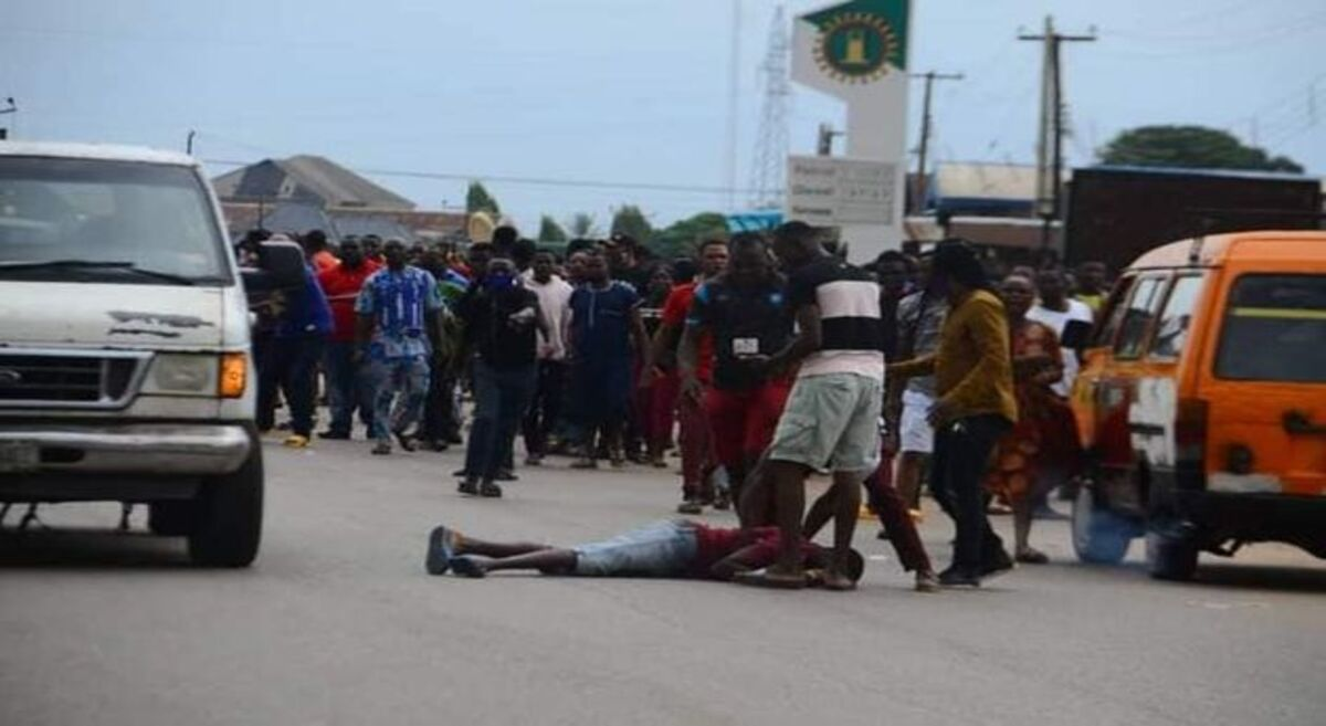 Edo 2020: Jubilating Obaseki's supporter falls from speeding vehicle