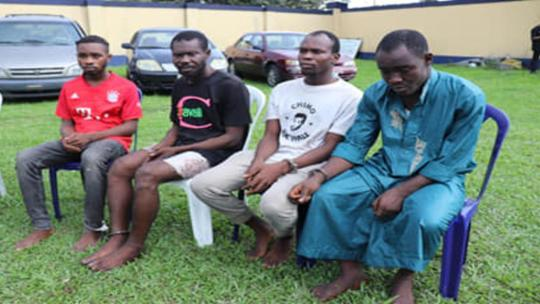 Police Parades Suspected Child Trafficker