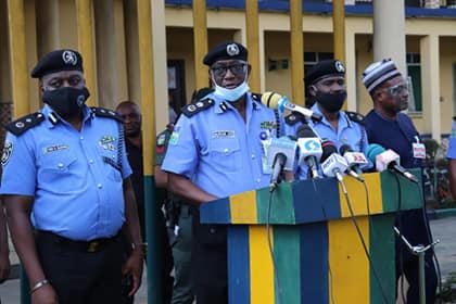 Police Parades Suspected Child Trafficker