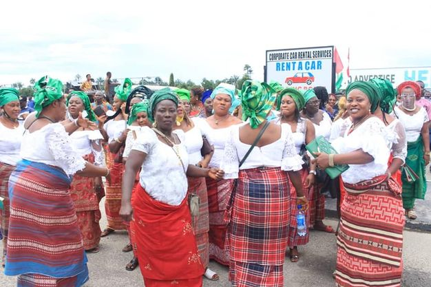Women celebrating Edo state PDP win