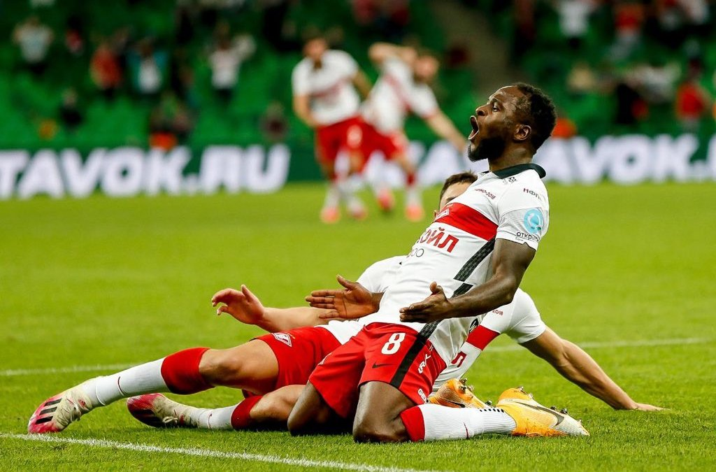 Victor Moses first goal for Spartak Moscow