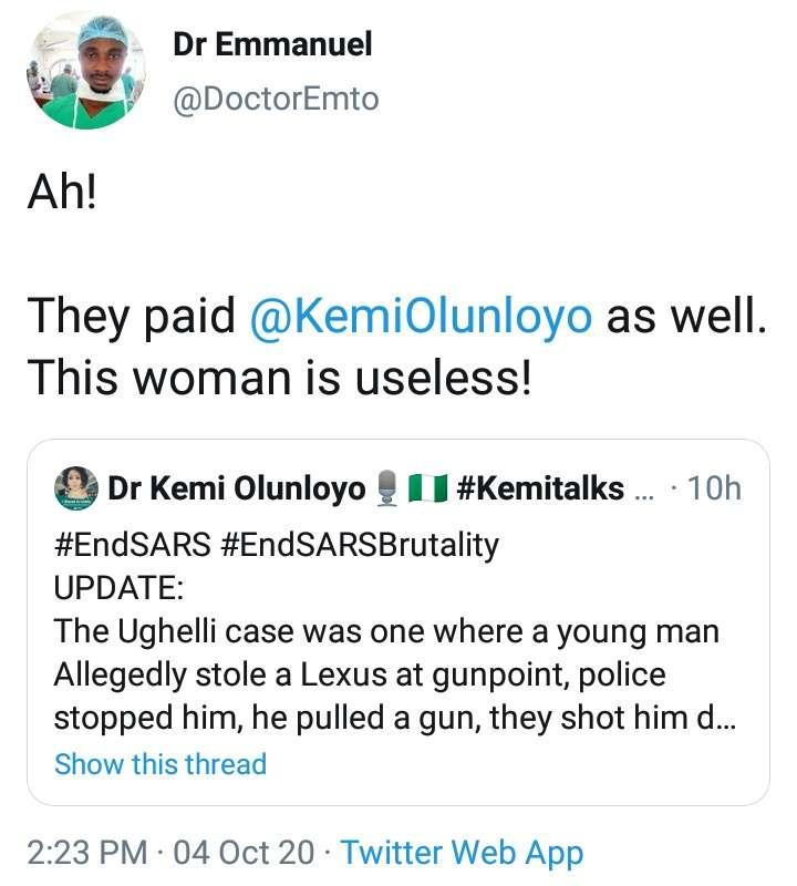 Dr Emmanuel tweet