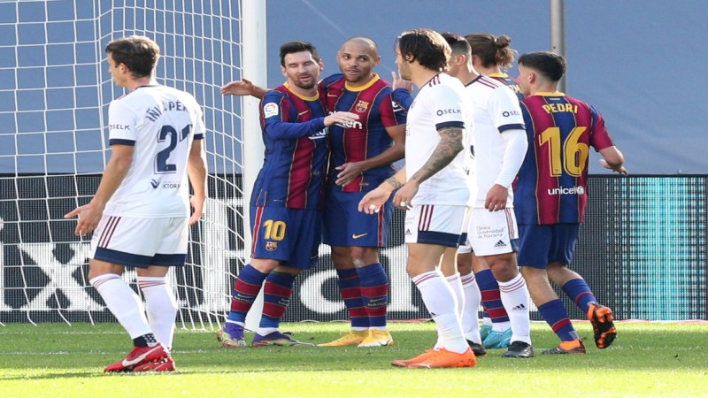 La Liga: Barcelona 4-0 Osasuna