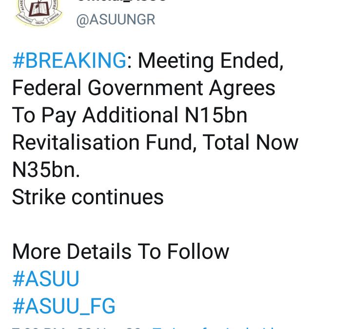 ASUU Tweet