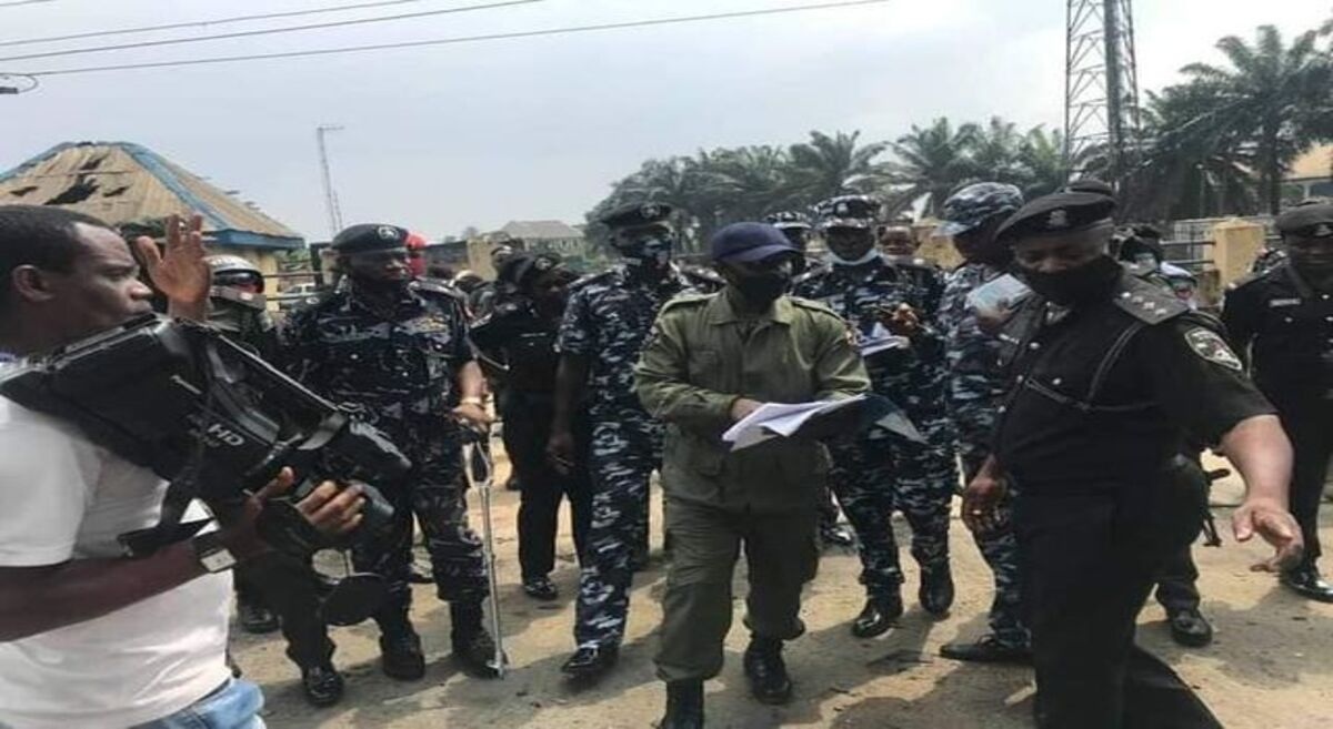 IGP's committee on losses incurred during #EndSars protest visits damaged police facilities in Oyigbo