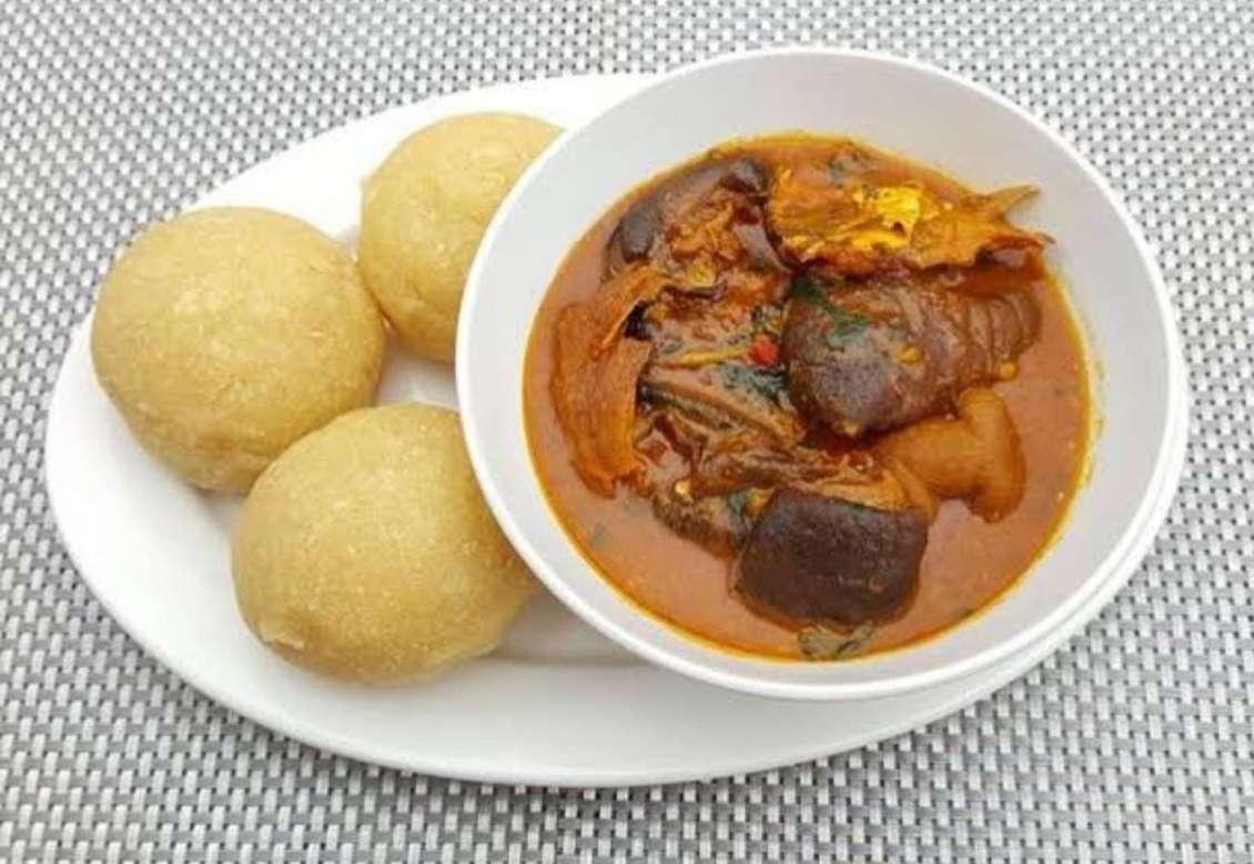 Eba and native soup
