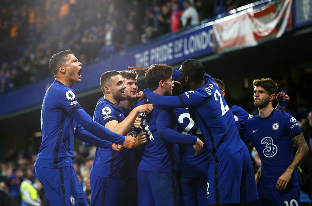 Chelsea players react to win over Leicester City