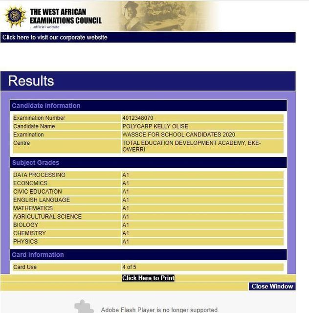 OPM Pastor award scholarship to girl with 9 A's in WAEC