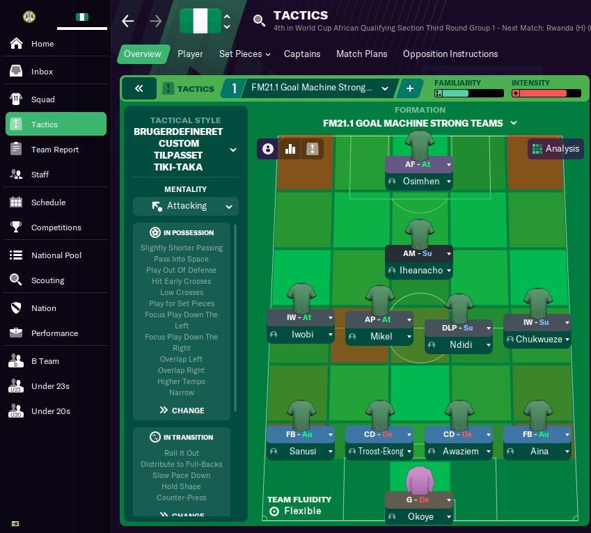 Best Football Manager 2021 tactics for a national team side