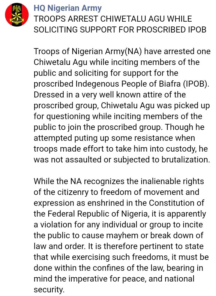 Nigerian Army post