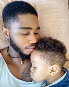 #BBNaija: Checkout These Adorable Photos Of Praise And His Lookalike Son