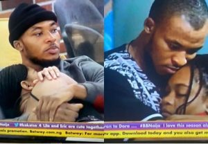 BBNaija Housemates Eric, Lilo Get All Loved Up In The House