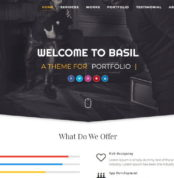 Basil-Blogger-Template-By HIVE-store