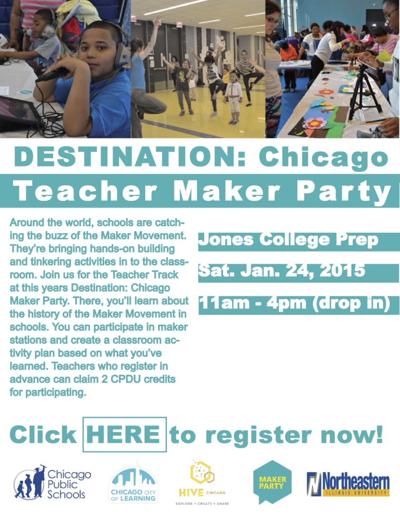 Teacher Maker Party--JAN 24th