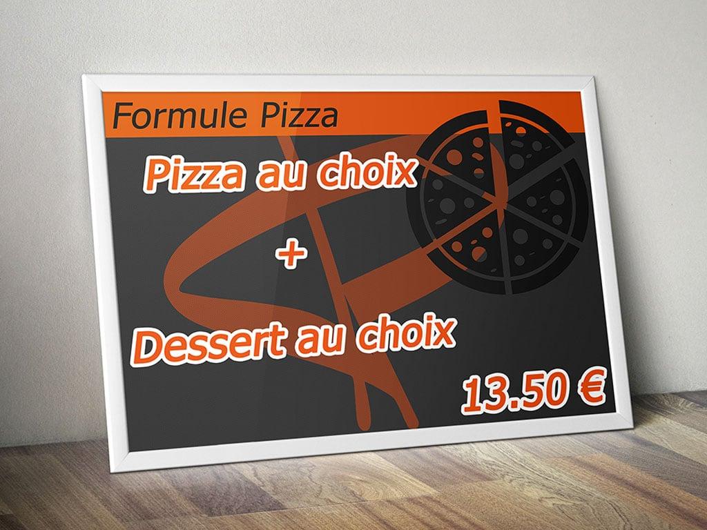 Affiche formule pizza Pannichetta