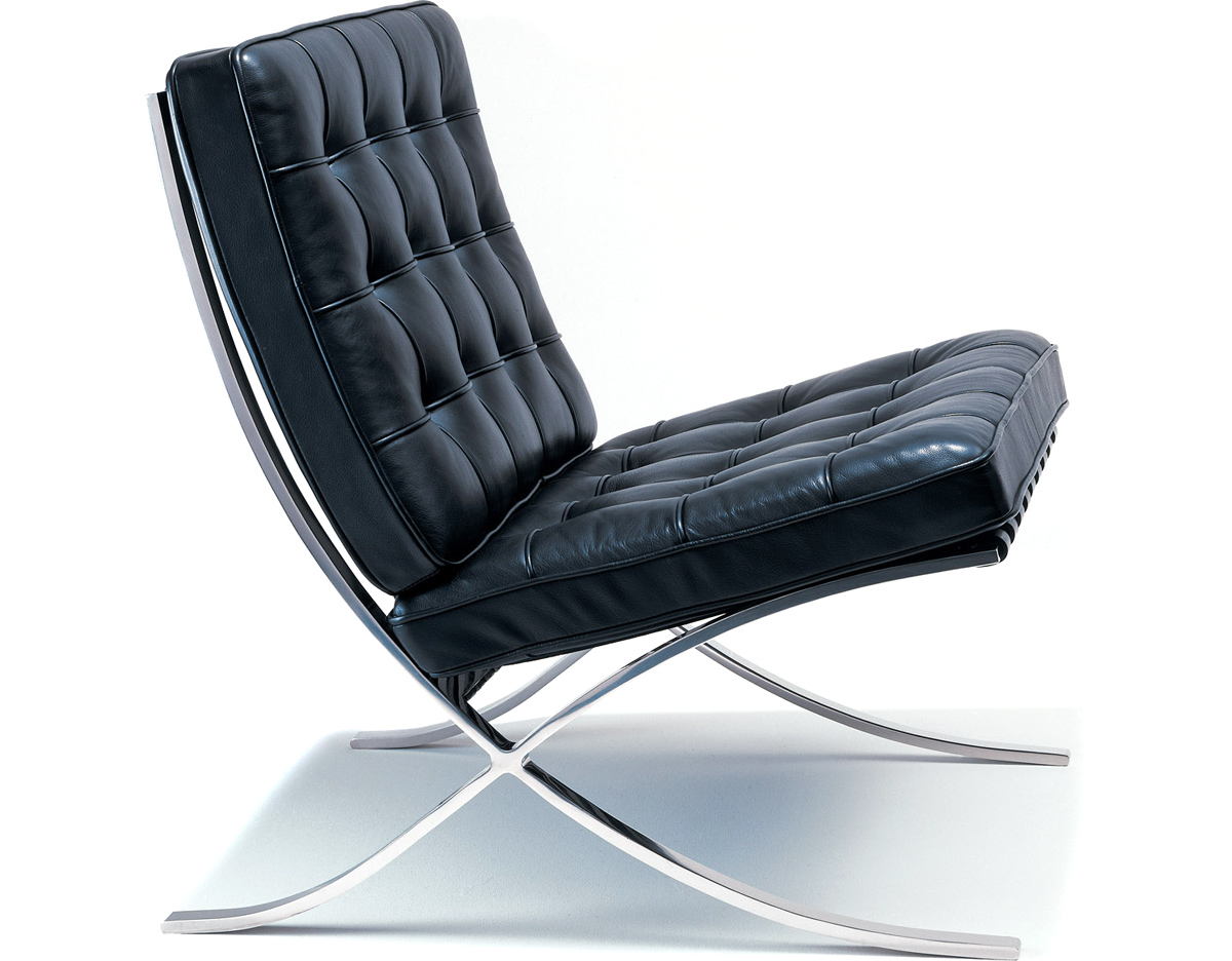 Barcelona Chair Hand Polished Stainless