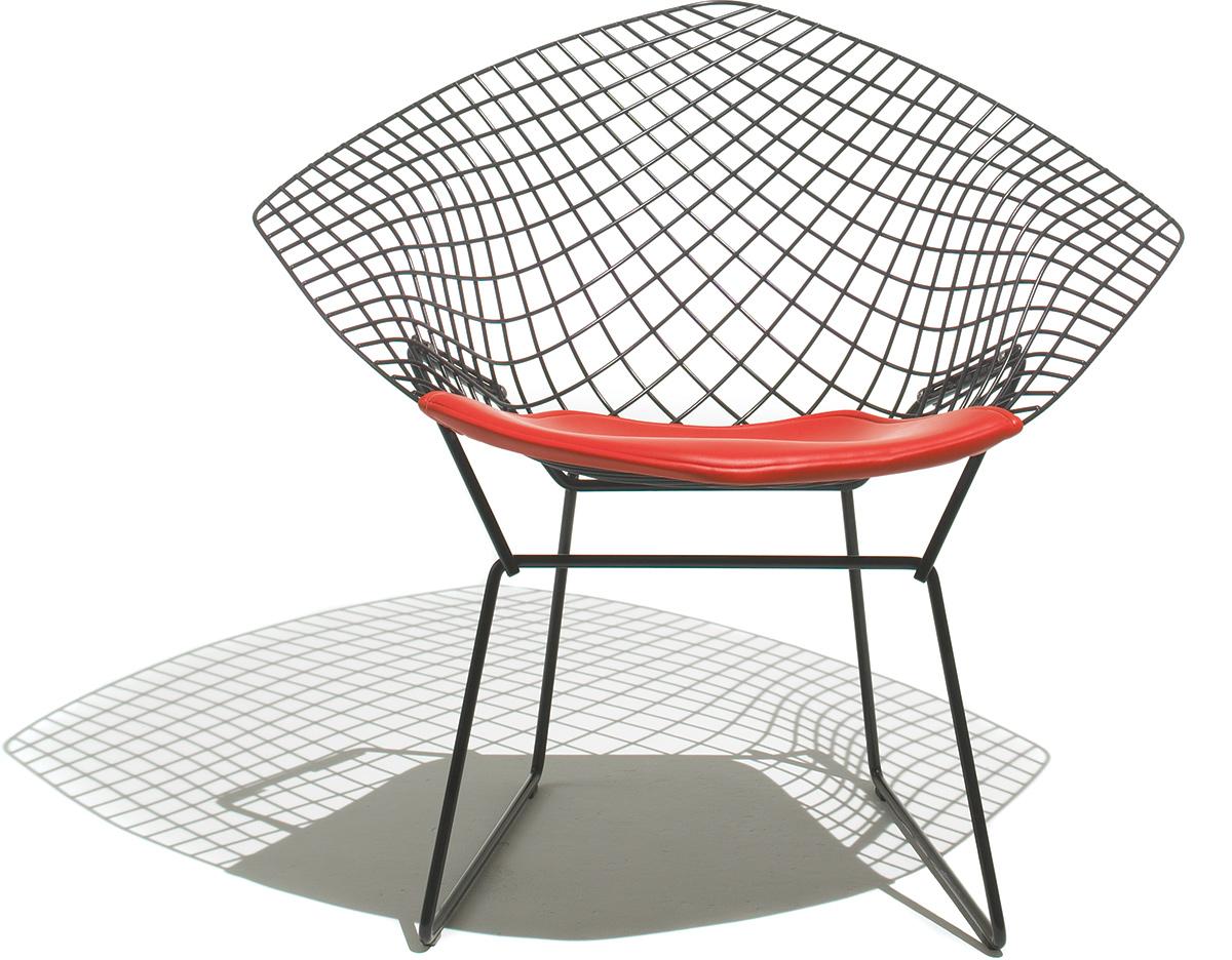 Bertoia Small Diamond Chair With Seat Cushion