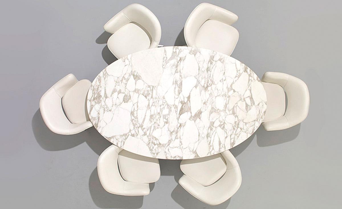 Saarinen Dining Table Arabescato Marble