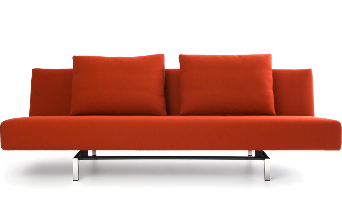Sleeper Sofa With 2 Cushions