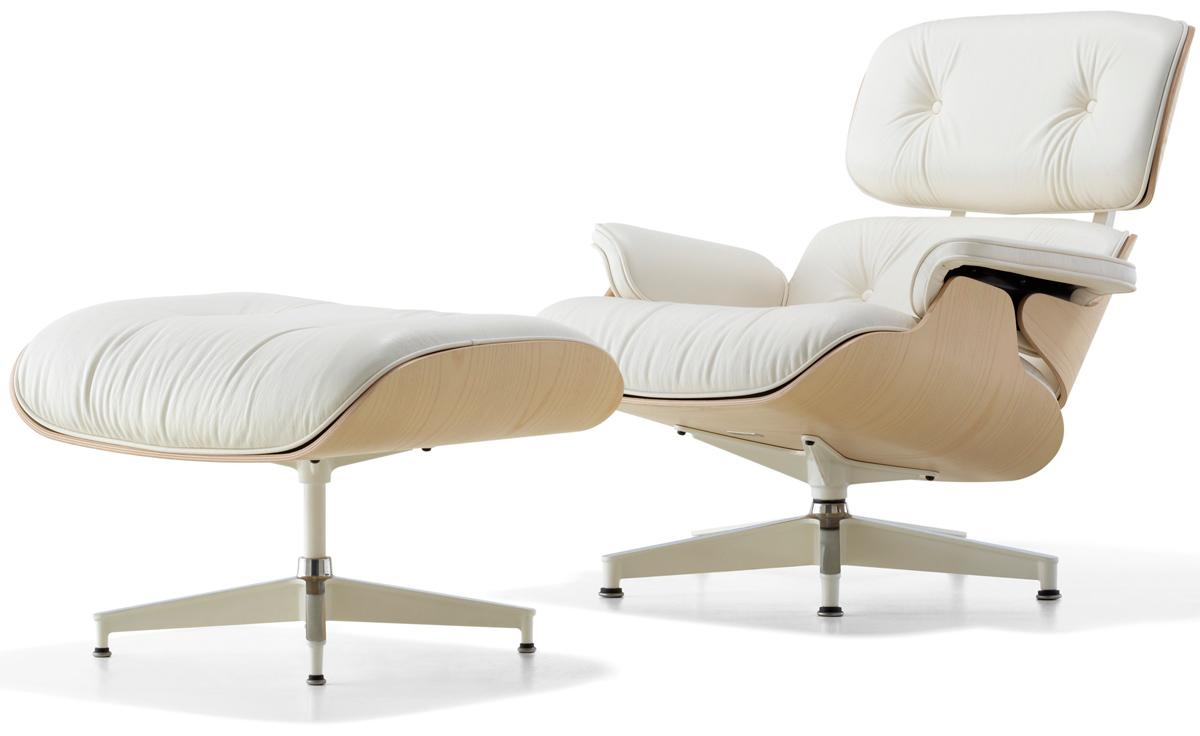 White Ash Eames Lounge Chair Amp Ottoman