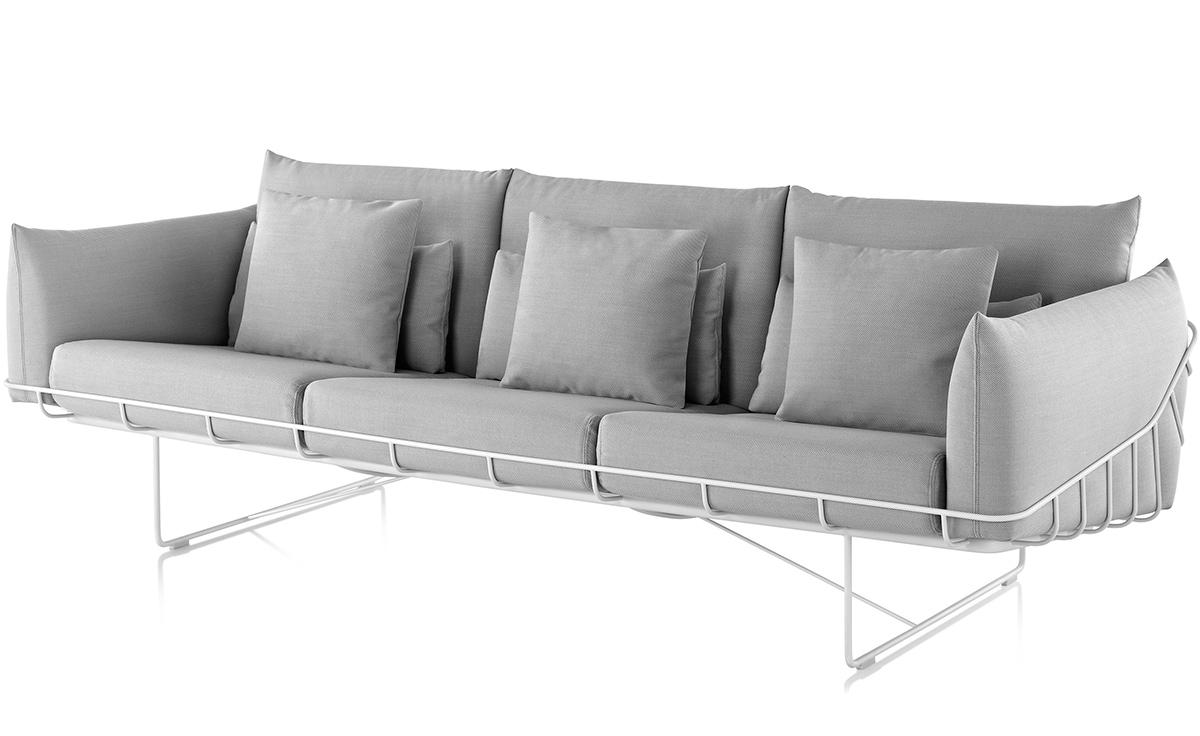 Wireframe 3 Seat Sofa Hivemodern Com