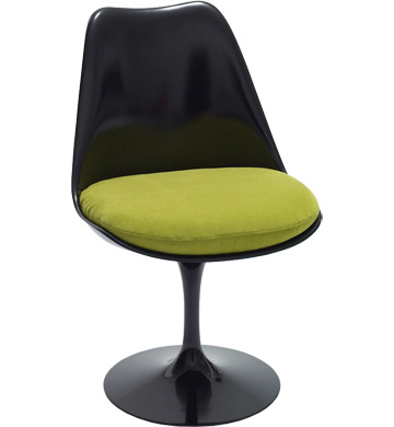 saarinen tulip side chair - black