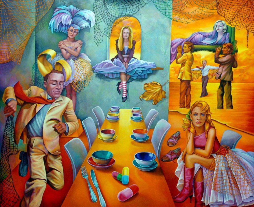 Adrienne Seed - Paintings Visual AIDS (2/6)