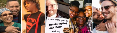 a diverse collection of people related to the HIV Prevention and Care Project