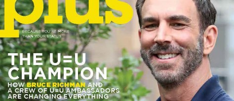 Bruce Richman on the cover of Plus magazine