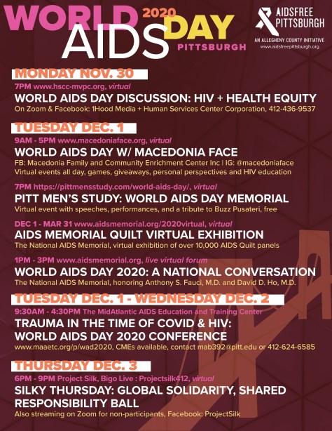 world aids day flyer information