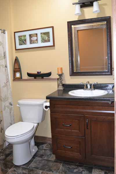bath with high definition counter