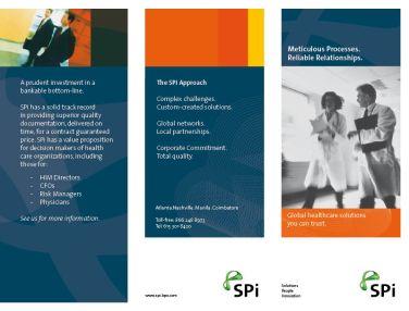 SPi tri-fold brochure page 1
